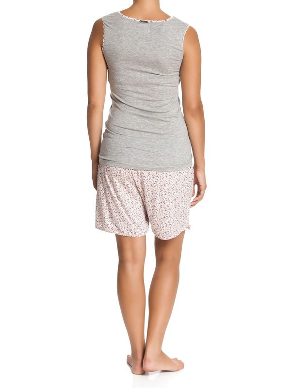 Vive Maria Dreamy Flowers Short Pyjama grey-melange/allover – Bild 2