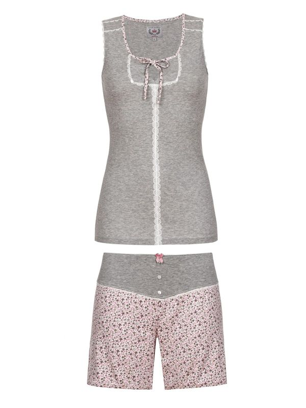 Vive Maria Dreamy Flowers Short Pyjama grey-melange/allover – Bild 0