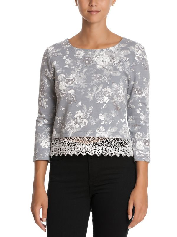 Vive Maria Smoky Rose Sweater grey allover – Bild 1