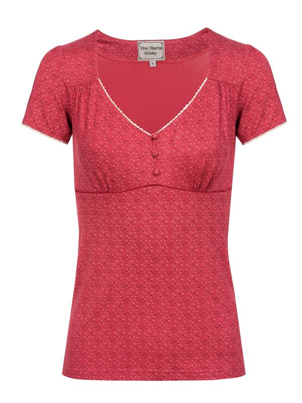 Vive Maria Go On Holiday Shirt red – Bild 0