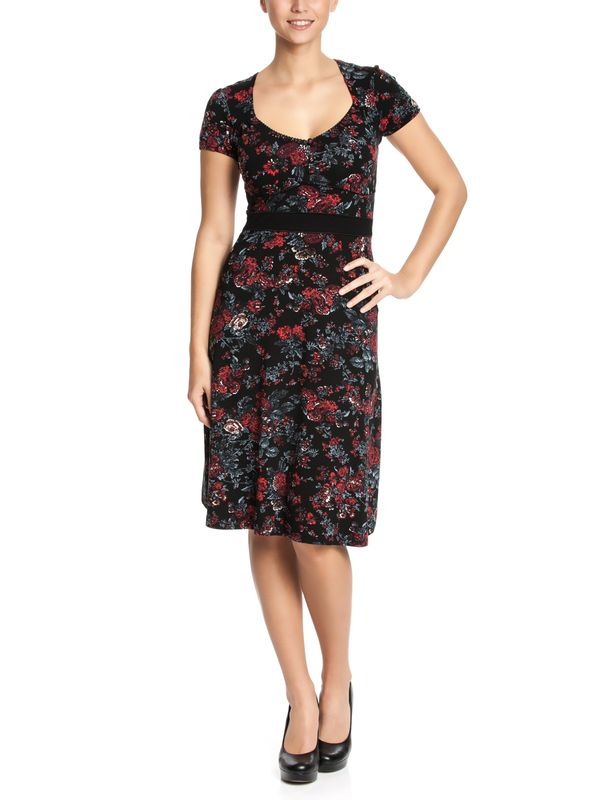 Vive Maria American Rose Dress black allover – Bild 1