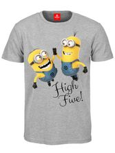 Minions High Five Male Shirt Heather grey