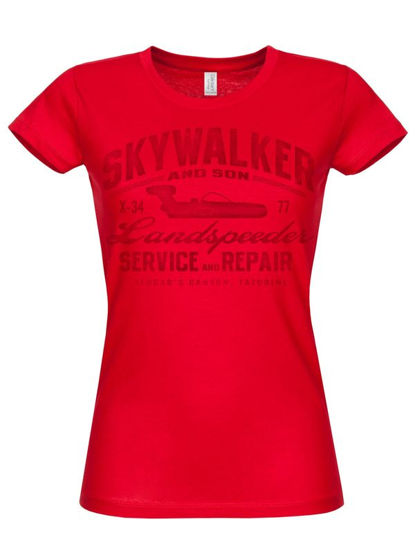 Hybris Star Wars - Skywalker And Son Girly T-Shirt (Red)