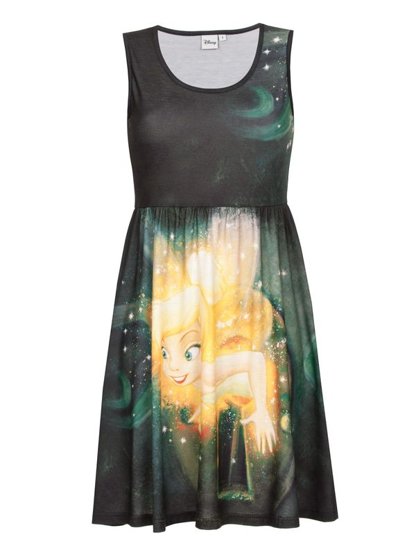 DISNEY Tinkerbell Keyhole Magic Dress black allover – Bild 0