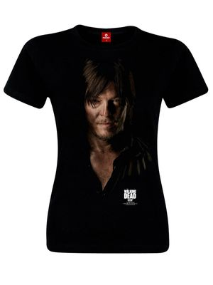 The Walking Dead Daryl Black Girl T-Shirt black – Bild 0