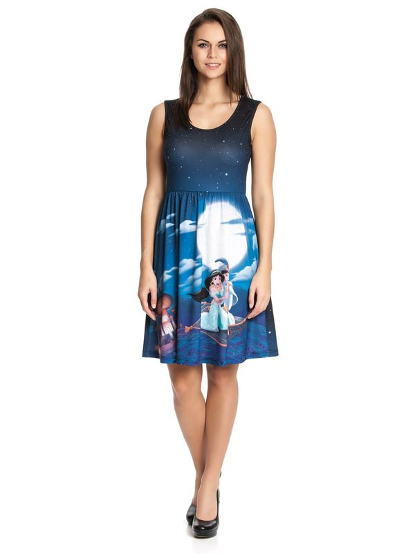 DISNEY Aladdin & Jasmin Dress blue allover – Bild 2