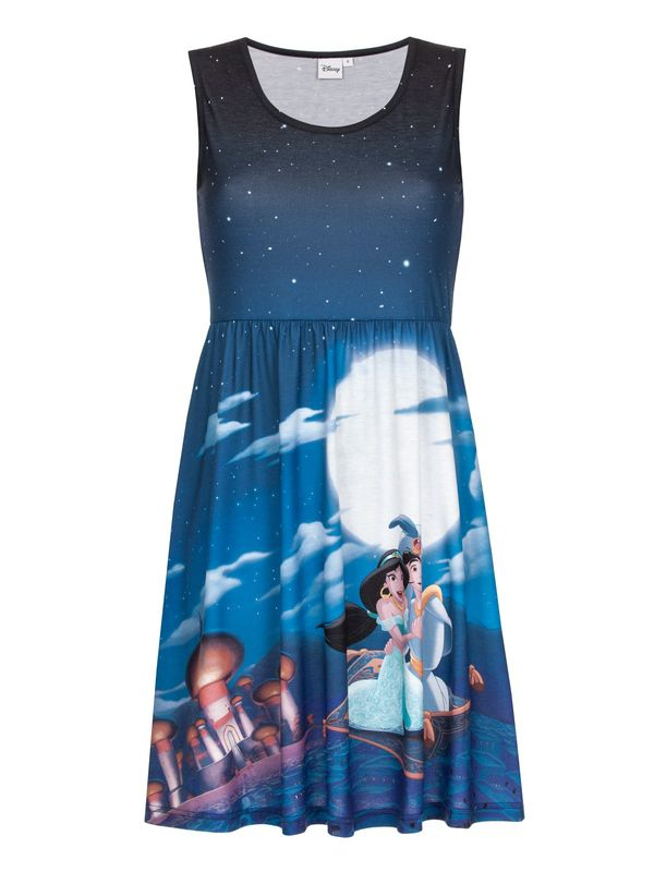 DISNEY Aladdin & Jasmin Dress blue allover Ansicht