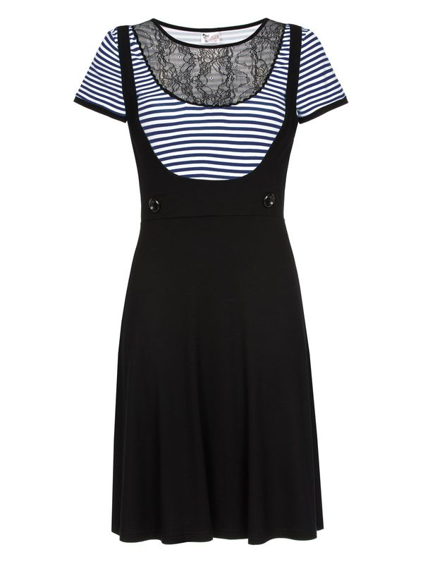Pussy Deluxe PD Sally Striped Dress black/blue