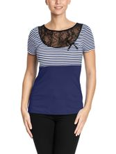 Pussy Deluxe Sally Striped Shirt blue – Bild 1