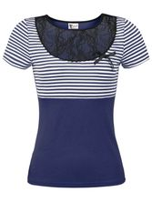 Pussy Deluxe Sally Striped Shirt blue – Bild 0