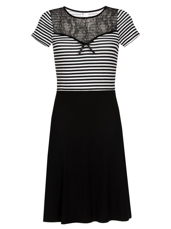 Pussy Deluxe PD Anchor Striped Dress black/white