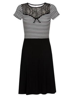 Pussy Deluxe Anchor Striped Dress, Kleid – Bild 0