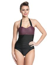Pussy Deluxe Roxy Checkered Swimsuit black/red – Bild 1