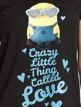 Minions Crazy Little Thing Called Love female T-Shirt black – Bild 2