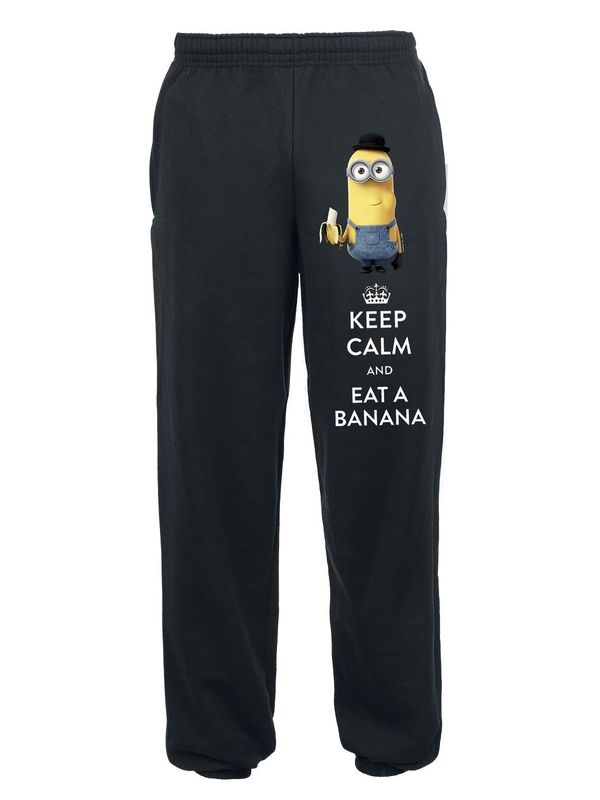 Minions Keep Calm Sweat Pants black – Bild 0