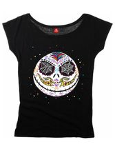 The Nightmare Before Christmas Sugarskull Dots Girl Shirt black