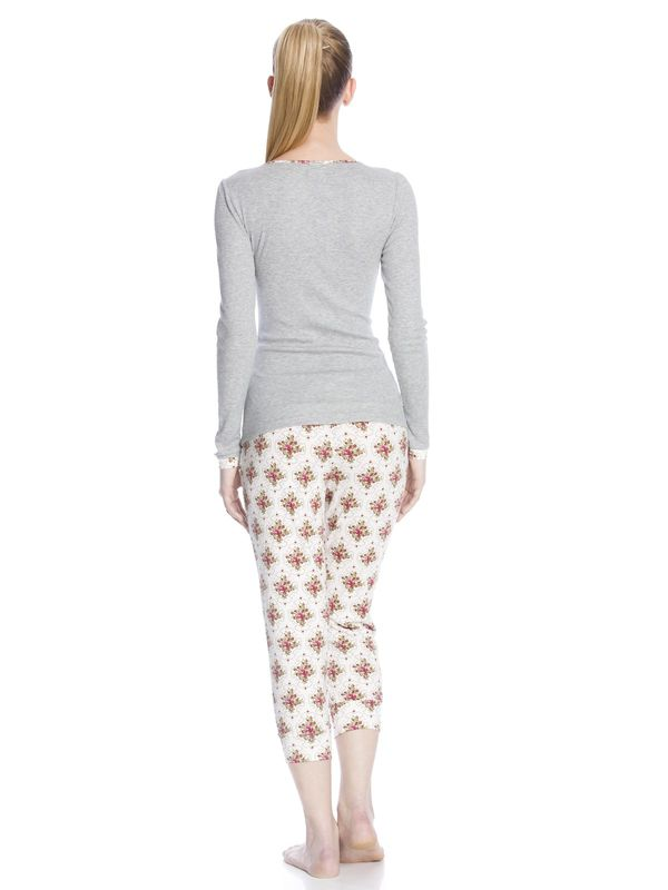 Vive Maria Cottage Flower Pyjama gray-melange/allover  – Bild 4
