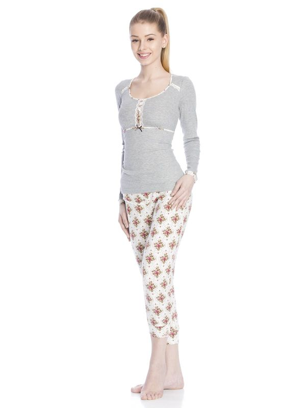 Vive Maria Cottage Flower Pyjama gray-melange/allover  – Bild 2