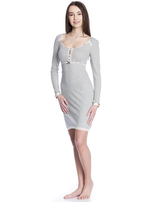 Vive Maria Cottage Flower Nightdress grey-melange  – Bild 2