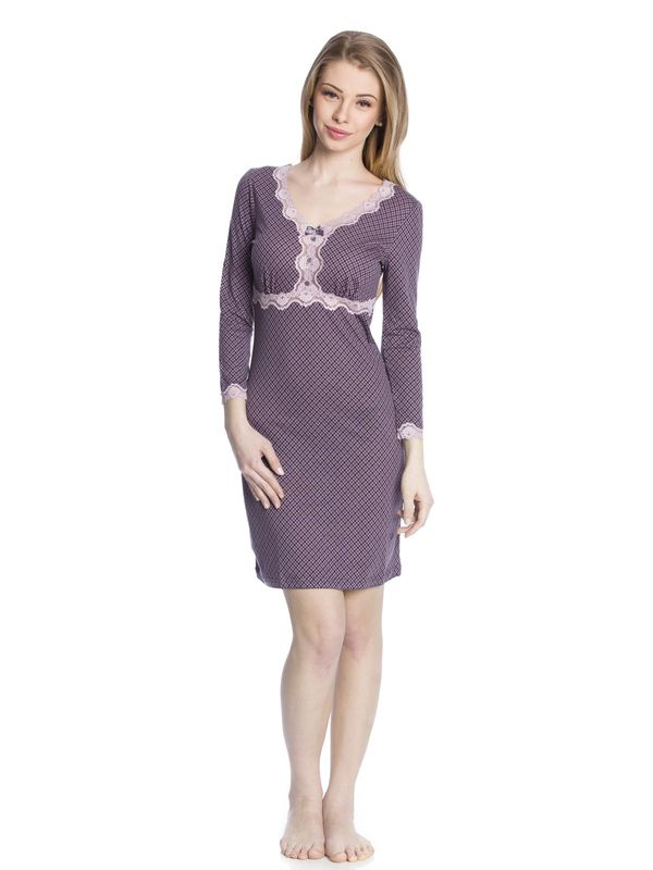 Vive Maria Elderberry Nightdress grey allover  – Bild 1