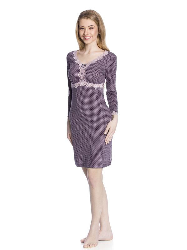 Vive Maria Elderberry Nightdress grey allover  – Bild 2