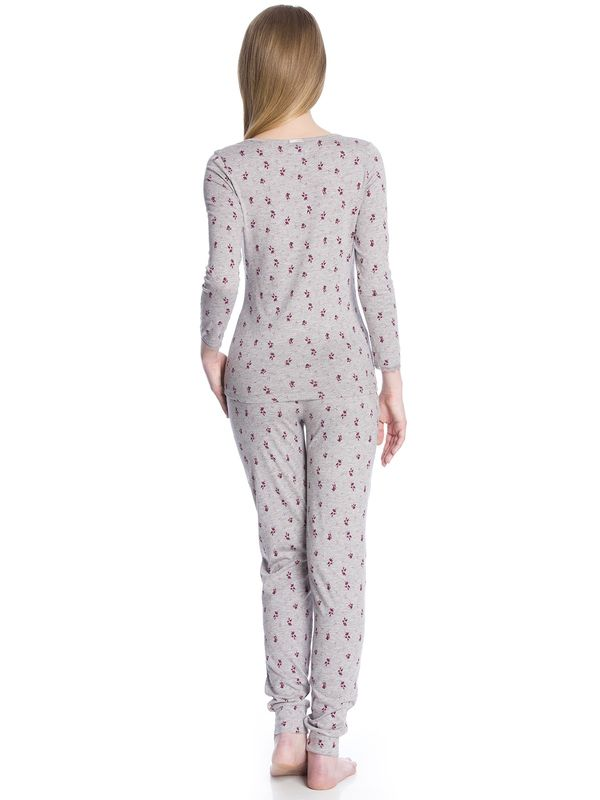 Vive Maria Bouquet Of Violets Pyjama gray-melange allover  – Bild 3