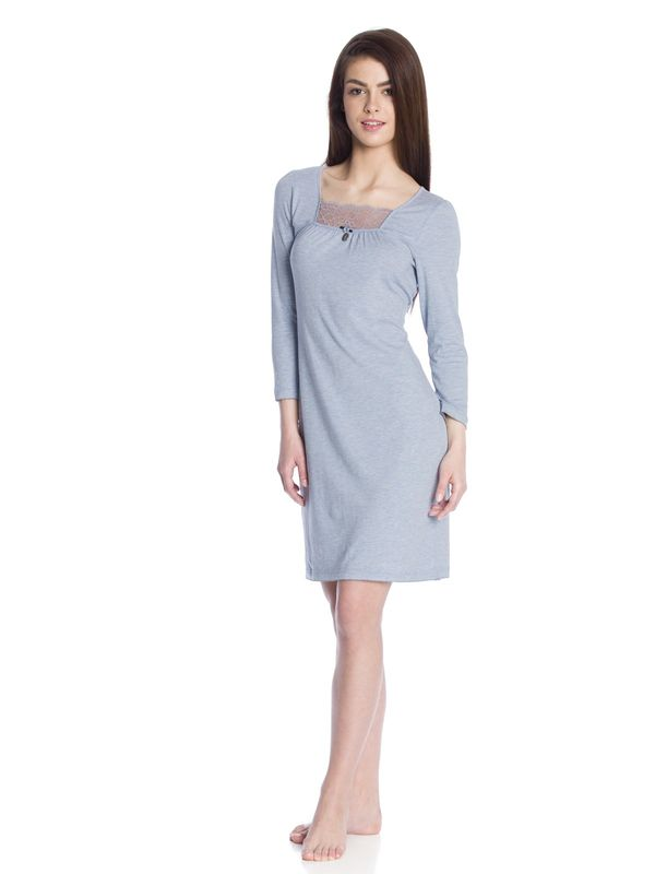 Vive Maria In Heaven Nightdress blue-melange  – Bild 2