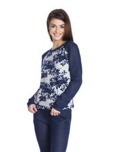 Vive Maria Faded Blue Roses Sweatshirt dark blue/gray-melange allover  – Bild 2