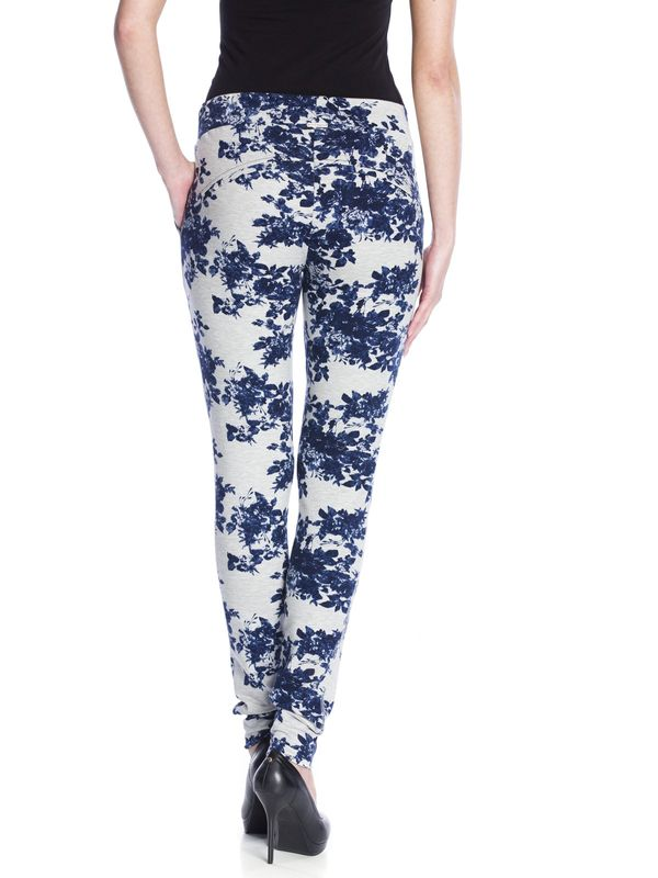 Vive Maria Faded Blue Roses Pants gray-melange allover  – Bild 4