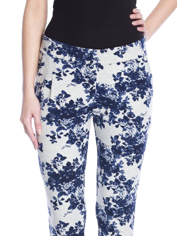 Vive Maria Faded Blue Roses Pants gray-melange allover  – Bild 5