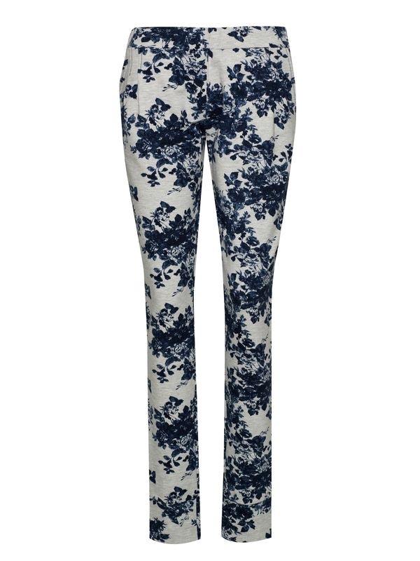 Vive Maria Faded Blue Roses Pants gray-melange allover  – Bild 0