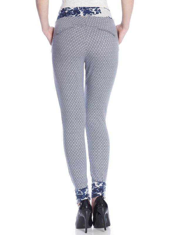Vive Maria Sweet Blue Allover Pants gray-melange allover  – Bild 3