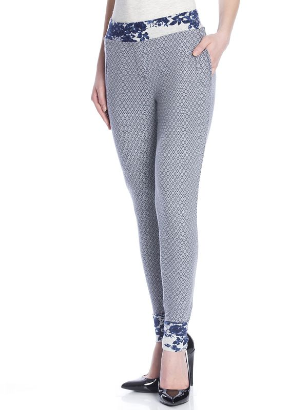 Vive Maria Sweet Blue Allover Pants gray-melange allover  – Bild 2