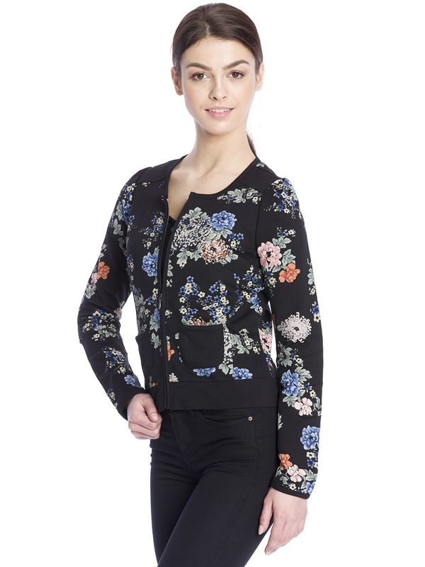 Vive Maria Floral Dream Sweat Jacke schwarz Allover-Print  – Bild 3