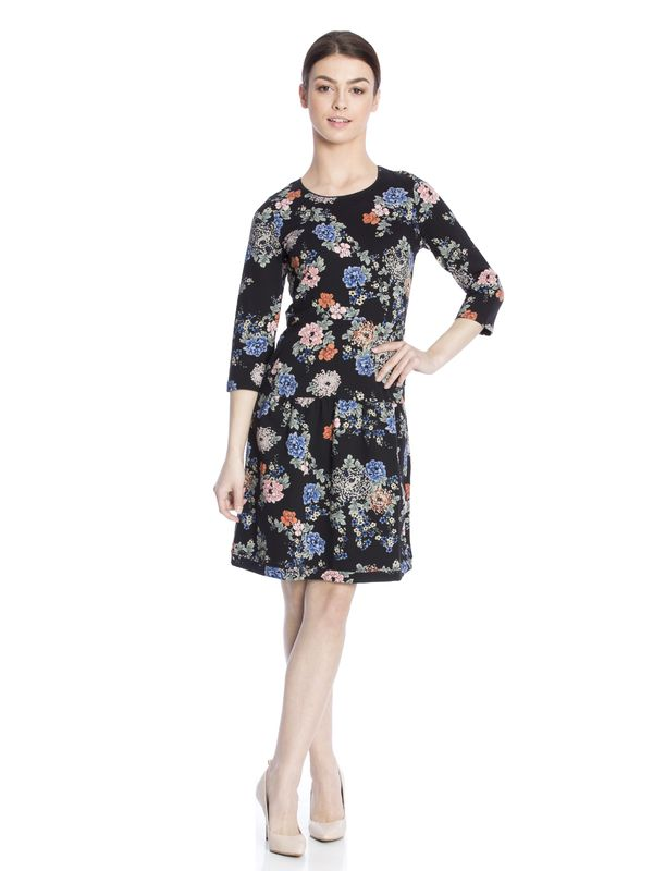 Vive Maria Floral Dream Sweatdress black allover  – Bild 1