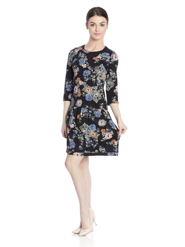 Vive Maria Floral Dream Sweatdress black allover  – Bild 2