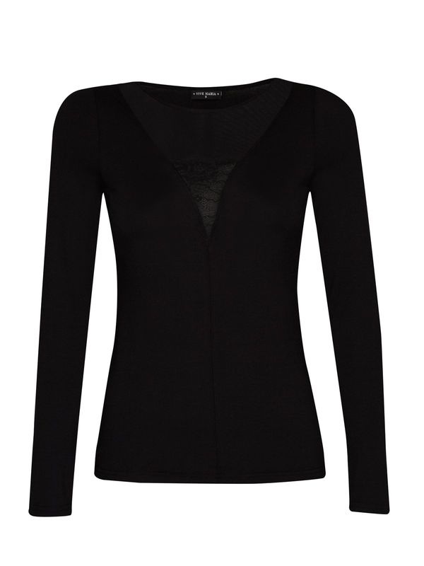 Vive Maria Black Evening Shirt black  – Bild 0