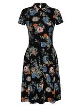 Vive Maria Shanghai Flowers Dress black allover  – Bild 0