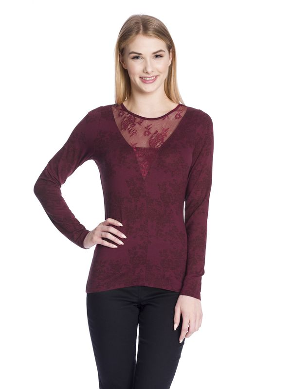 Vive Maria Red Roses Lace Longsleeve red allover  – Bild 1