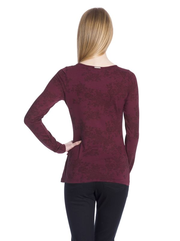 Vive Maria Red Roses Lace Longsleeve red allover  – Bild 3