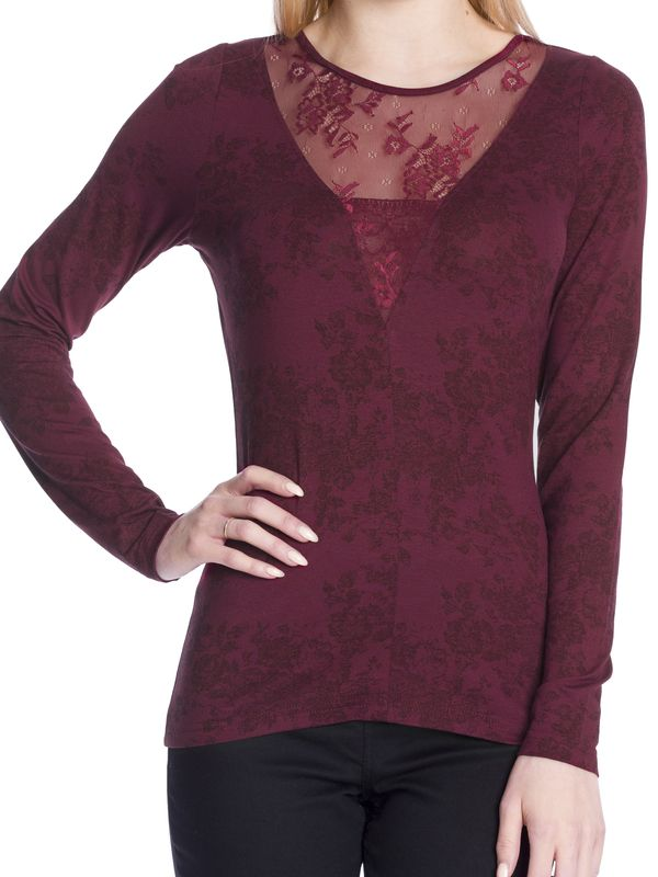 Vive Maria Red Roses Lace Langarm-Shirt red Allover-Print  – Bild 5