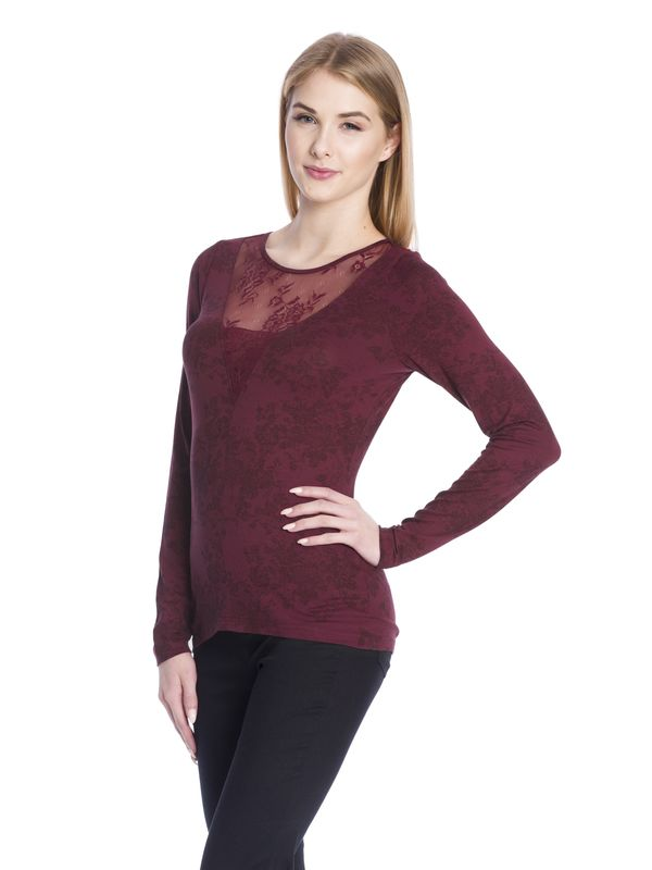 Vive Maria Red Roses Lace Longsleeve red allover  – Bild 2
