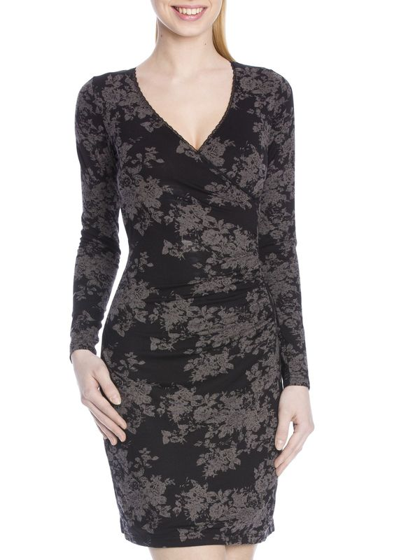 Vive Maria Dark Roses Wrapdress black allover  – Bild 5