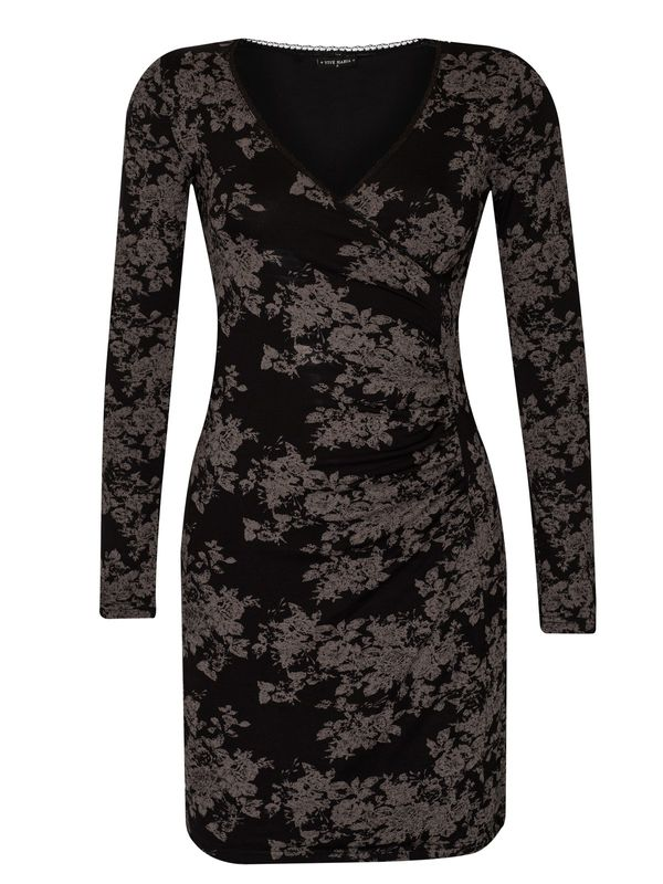 Vive Maria Dark Roses Wrapdress black allover  – Bild 0