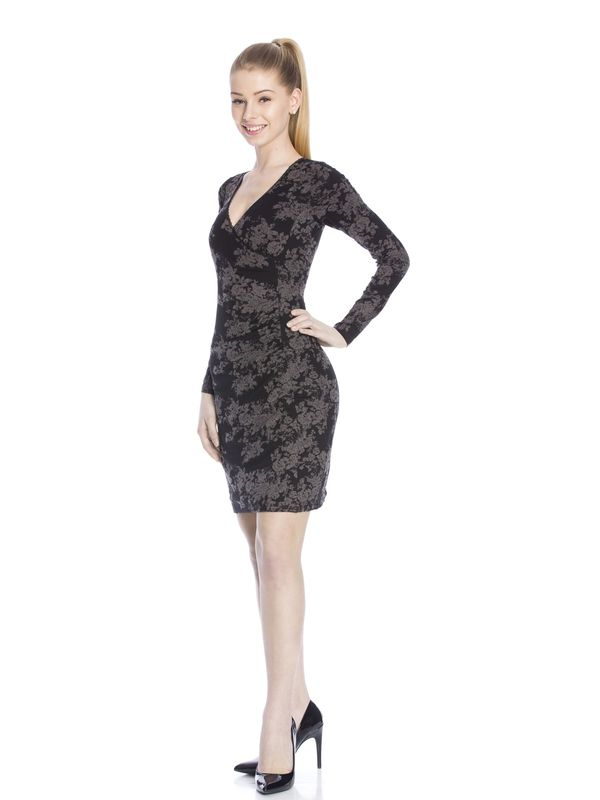 Vive Maria Dark Roses Wrapdress black allover  – Bild 3