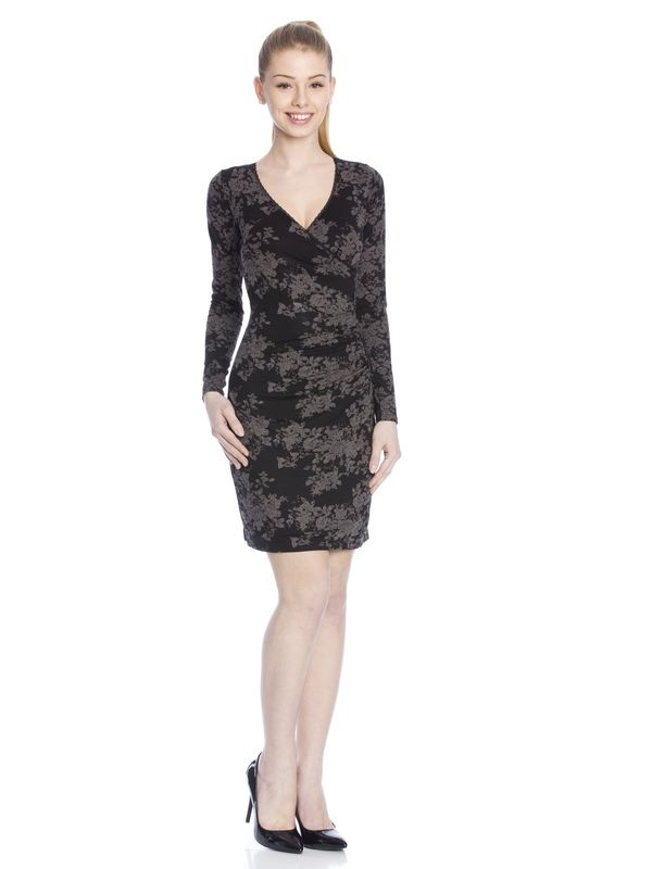 Vive Maria Dark Roses Wrapdress black allover  – Bild 1