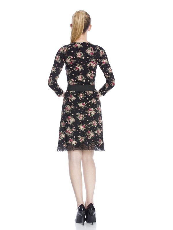 Vive Maria True Love Kleid schwarz Allover-Print  – Bild 3