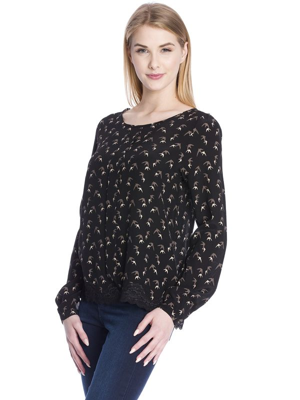 Vive Maria Sweet Swallow Blouse black allover  – Bild 3