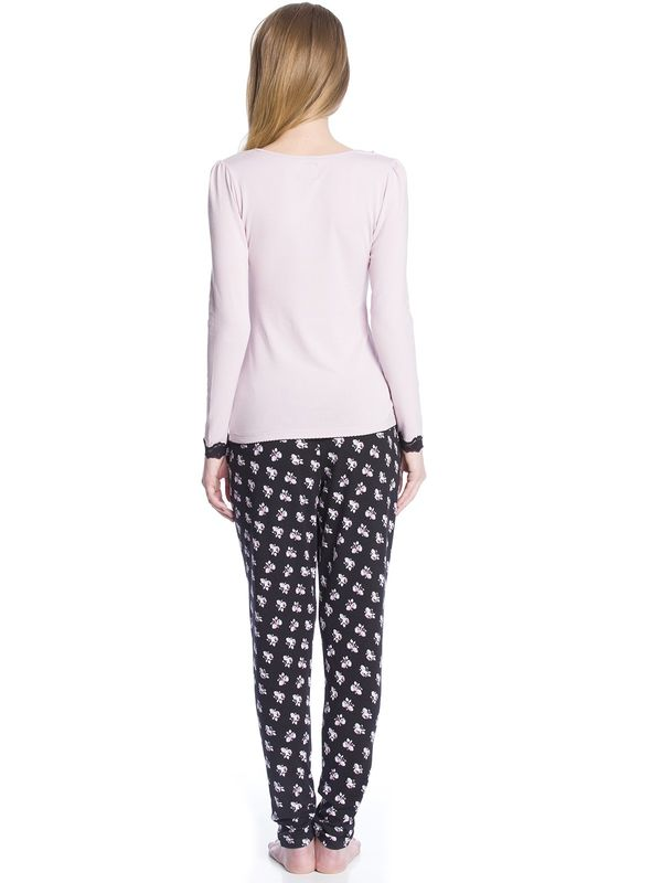 Vive Maria My English Rose Pyjama Schlafanzug lila/allover-Druck – Bild 3