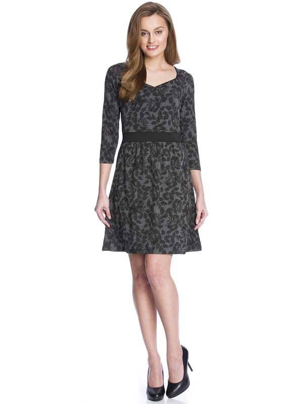 Vive Maria Black Flowers Dress gray allover – Bild 1